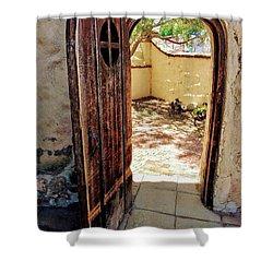 San Juan Capistrano Door Shower Curtain