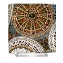 San Juan Capital Building Ceiling Shower Curtain by Lois Lepisto