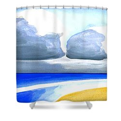 San Juan Cloudscpe Shower Curtain by Dick Sauer