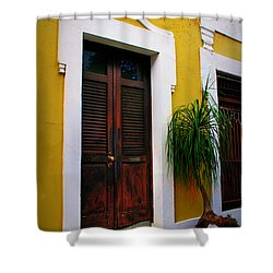 San Juan Doors Shower Curtain by Perry Webster