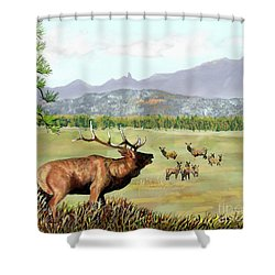 San Juan Elk Vista Shower Curtain