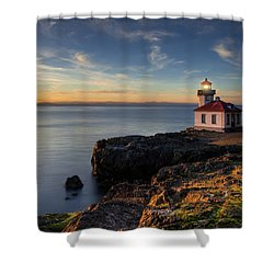 Shower Curtain featuring the photograph San Juan Island Serenity by Dan Mihai