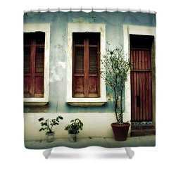 San Juan Living 3 Shower Curtain by Perry Webster