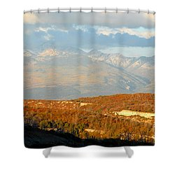San Juan Mountains Shower Curtain by David Lee Thompson