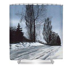 San Juan Snow Shower Curtain