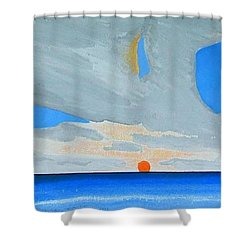San Juan Sunrise Shower Curtain by Dick Sauer