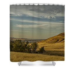 San Luis Reservoir 9891 Shower Curtain