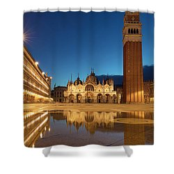 Shower Curtain featuring the photograph San Marco Twilight by Brian Jannsen
