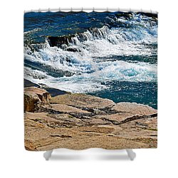 San Marcos River Waterfall  Shower Curtain