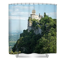 San Marino - Guaita Castle Fortress Shower Curtain