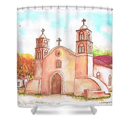 San Miguel Catholic Church, Socorro, New Mexico Shower Curtain