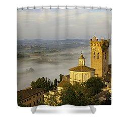 San Miniato Shower Curtain by Brian Jannsen