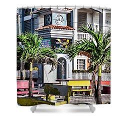 San Pedro Town Plaza Shower Curtain