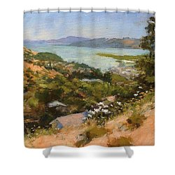 San Rafael Bay From Via La Cumbre, Greenbrae, Ca Shower Curtain