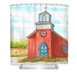 San Rafael Church In La Cueva, New Mexico Shower Curtain