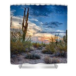 San Tan Mountain Park Sunset Shower Curtain