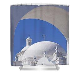 San Xavier Del Bac Shower Curtain by Sandra Bronstein