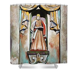 San Xavier Statue Shower Curtain by M Diane Bonaparte