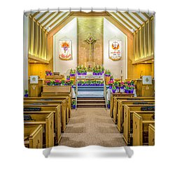 Shower Curtain featuring the photograph Sanctuary At Easter by Nick Zelinsky