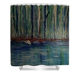 Sanctuary Shower Curtain by Judi Goodwin