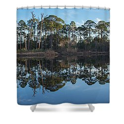 Shower Curtain featuring the photograph Sanctuary Reflection  by Julie Andel