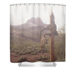 Shower Curtain featuring the photograph Sancuatary Cove Fog by Donna Greene