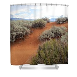 Sand And Sagebrush Shower Curtain