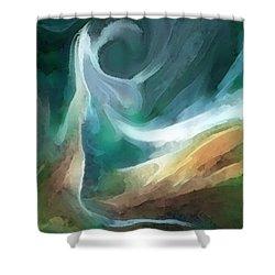 Sand And Sea Shower Curtain by Carol Cavalaris