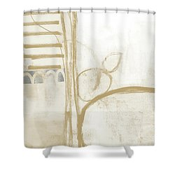Sand And Stone 3- Contemporary Abstract Art By Linda Woods Shower Curtain