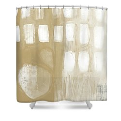 Sand And Stone 4- Contemporary Abstract Art By Linda Woods Shower Curtain