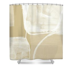 Sand And Stone 5- Contemporary Abstract Art By Linda Woods Shower Curtain