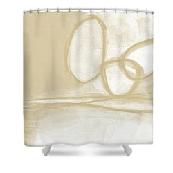 Sand And Stone 6- Contemporary Abstract Art By Linda Woods Shower Curtain