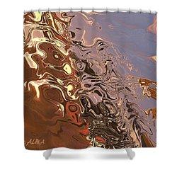 Sand Bank Shower Curtain by Alika Kumar