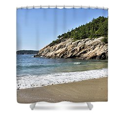 Sand Beach - Acadia National Park - Maine Shower Curtain