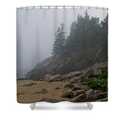 Sand Beach In A Fog Shower Curtain