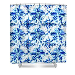 Sand Dollar Delight Pattern 3 Shower Curtain