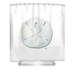 Sand Dollar Shower Curtain by Stephanie Troxell