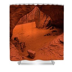 Shower Curtain featuring the photograph Sand Dune Arch - Arches National Park - Utah by Gary Whitton