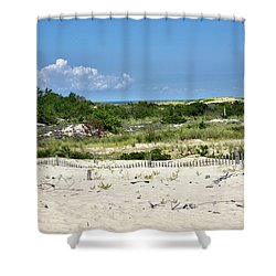 Shower Curtain featuring the photograph Sand Dune In Cape Henlopen State Park - Delaware by Brendan Reals