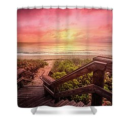 Shower Curtain featuring the photograph Sand Dune Morning by Debra and Dave Vanderlaan