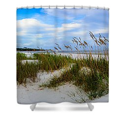 Sand Dunes And Blue Skys Shower Curtain