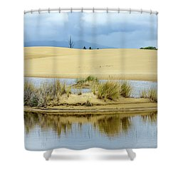 Sand Dunes And Water Shower Curtain