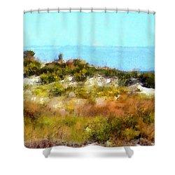 Sand Dunes Assateague Island Shower Curtain