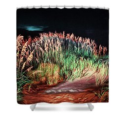 Sand Dunes At Night On The Outer Banks Ap Shower Curtain