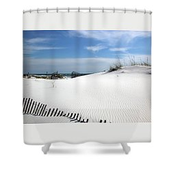 Shower Curtain featuring the photograph Sand Dunes Dream by Marie Hicks