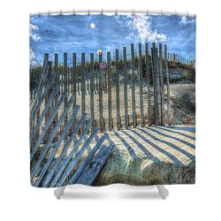 Sand Fence Shower Curtain