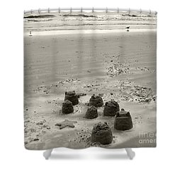 Sand Fun Shower Curtain