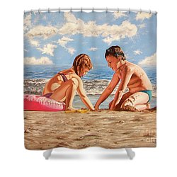 Sand Grains - Granos De Arena Shower Curtain
