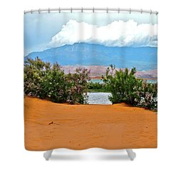 Sand Hallow Reservoir Shower Curtain