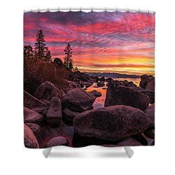 Sand Harbor Beach Shower Curtain